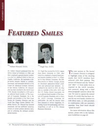 The Journal of Cosmetic Dentistry magazine page