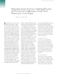 Journal of Esthetic Dentistry magazine page
