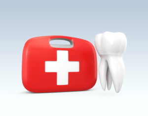 First aid tooth graphic