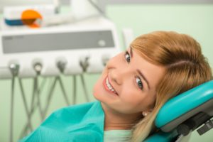 woman at dentist