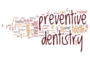 preventive dentistry word cloud