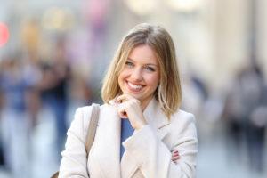smiling, confident woman